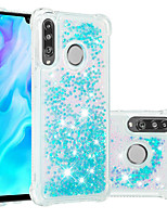 Недорогие -Кейс для Назначение Huawei Huawei P20 / Huawei P20 Pro / Huawei P20 lite Защита от удара / Движущаяся жидкость / Прозрачный Кейс на заднюю панель Сияние и блеск Мягкий ТПУ / P10 Lite