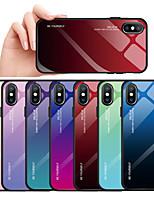 Недорогие -Кейс для Назначение Apple iPhone XS / iPhone XR / iPhone XS Max Защита от пыли / Защита от влаги Кейс на заднюю панель Градиент цвета Твердый Закаленное стекло