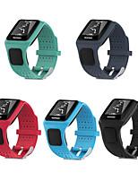 Недорогие -Ремешок для часов для TomTom Multi-Sport GPS+HRM TomTom Спортивный ремешок / Классическая застежка силиконовый Повязка на запястье