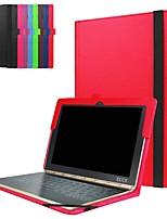 Недорогие -Кейс для Назначение Lenovo Lenovo Yogabook Защита от удара / со стендом / Ультратонкий Чехол Однотонный Твердый Кожа PU