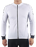 cheap -Arsuxeo Men's Long Sleeve Cycling Jersey Winter Polyester Dark Grey White Yellow Bike Jersey Top Mountain Bike MTB Road Bike Cycling Thermal / Warm Quick Dry Reflective Strips Sports Clothing Apparel