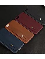 Недорогие -Кейс для Назначение Apple iPhone XS / iPhone XR / iPhone XS Max со стендом Кейс на заднюю панель Однотонный Мягкий ТПУ
