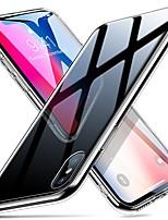 Недорогие -Кейс для Назначение Apple iPhone XS / iPhone XR / iPhone XS Max Покрытие Кейс на заднюю панель Однотонный Мягкий ТПУ