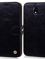 Недорогие -Кейс для Назначение SSamsung Galaxy J5 (2017) Бумажник для карт / Флип Чехол Однотонный Твердый Кожа PU