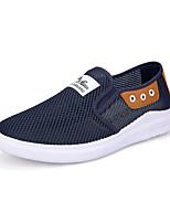 Недорогие -Муж. Комфортная обувь Сетка Лето На каждый день Мокасины и Свитер Дышащий Контрастных цветов Серый / Синий