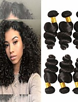 Недорогие -4 Связки Бразильские волосы Свободные волны 100% Remy Hair Weave Bundles Человека ткет Волосы Пучок волос Накладки из натуральных волос 8-28 дюймовый Естественный цвет Ткет человеческих волос