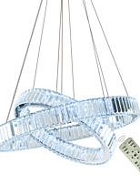 Недорогие -Dinning светодиодный кристалл подвесной светильник популярное кольцо хрустальные подвесные светильники современные светодиодные круги люстры подвесной светильник лампы украшения 110-120 В / 220-240 В