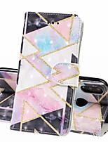 Недорогие -Кейс для Назначение Huawei Huawei Nova 3i / Huawei Honor 10 / Honor 10 Lite Кошелек / Бумажник для карт / Защита от удара Чехол Геометрический рисунок Твердый Кожа PU