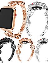 Недорогие -металлический браслет из нержавеющей стали ремешок на запястье браслет для Apple Watch серии 4/3/2/1 горный хрусталь ремешки браслет