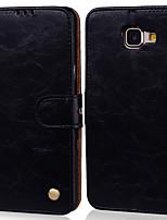 Недорогие -Кейс для Назначение SSamsung Galaxy A5(2016) Бумажник для карт / Флип Чехол Однотонный Твердый Кожа PU
