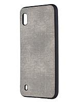 Недорогие -Кейс для Назначение SSamsung Galaxy Galaxy S10 Plus / Galaxy S10 E Защита от пыли / Ультратонкий Кейс на заднюю панель Однотонный Твердый Кожа PU