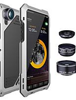 Недорогие -противоударная металлическая задняя крышка с 3-мя объективами для iphone x 7/8 7/8 plus