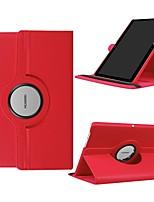 Недорогие -Кейс для Назначение Huawei Huawei Mediapad T5 10 / Huawei MediaPad T3 10(AGS-W09, AGS-L09, AGS-L03) Поворот на 360° / Защита от удара / со стендом Чехол Однотонный Твердый Кожа PU