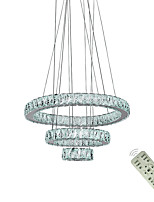 Недорогие -Современная светодиодная гостиная столовая подвесные светильники подвесной светильник подвесное кольцо хрустальные люстры светильники светильники 110-120 В / 220-240 В