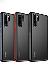 Недорогие -Кейс для Назначение Huawei Huawei P30 / Huawei P30 Pro / Huawei P30 Lite Матовое Кейс на заднюю панель Однотонный Твердый ПК