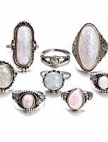 Недорогие -Жен. Цирконий Ring Set европейский Модные кольца Бижутерия Белый Назначение Свадьба 8шт