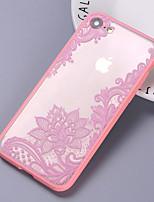 Недорогие -Кейс для Назначение Apple iPhone 8 Pluss / iPhone 8 Ультратонкий Кейс на заднюю панель Однотонный Твердый пластик