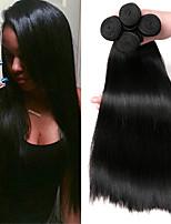 Недорогие -6 Связок Малазийские волосы Прямой Не подвергавшиеся окрашиванию Человека ткет Волосы Пучок волос One Pack Solution 8-28 дюймовый Естественный цвет Ткет человеческих волос Жизнь Классический Sexy Lady