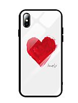 Недорогие -чехол для apple iphone xs max / iphone 8 plus pattern / противоударный / пылезащитный задняя крышка декорации / сердце / закаленное стекло для собаки iphone 7/7 plus / 8/6/6 plus / xr / x / xs