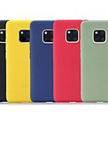 Недорогие -Кейс для Назначение Huawei Mate 10 lite / Huawei Mate 20 lite / Huawei Mate 20 pro Матовое Кейс на заднюю панель Однотонный Мягкий ТПУ