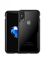 Недорогие -Кейс для Назначение Apple iPhone X Защита от удара / Защита от влаги Кейс на заднюю панель Однотонный Твердый ТПУ