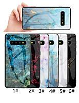Недорогие -Кейс для Назначение SSamsung Galaxy S9 / S9 Plus / S8 Plus С узором Кейс на заднюю панель Мрамор Твердый Закаленное стекло