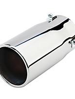Недорогие -80 мм серебряный тон входной диаметр из нержавеющей стали автомобильный глушитель выхлопной трубы глушитель