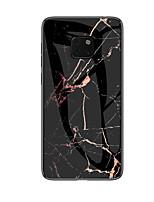 Недорогие -Кейс для Назначение Huawei Mate 10 / Mate 10 pro / Huawei Mate 20 pro С узором Кейс на заднюю панель Однотонный Твердый Закаленное стекло