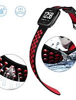 Недорогие -Ремешок для часов для Fitbit Versa / Fitbit Versa Lite Fitbit Спортивный ремешок / Классическая застежка силиконовый Повязка на запястье