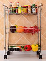 Недорогие -Высокое качество с Нержавеющая сталь Полки и держатели Для приготовления пищи Посуда Кухня Место хранения 2 pcs