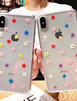 Недорогие -чехол для apple iphone 7 plus / iphone xs противоударный задняя крышка цветок мягкий тпу для iphone xr / iphone xs max / iphone 8 plus