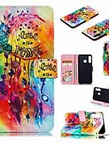 cheap -Case For Huawei Huawei Nova 4 / Huawei P20 / Huawei P20 Pro Wallet / Card Holder / Shockproof Full Body Cases Cartoon Hard PU Leather