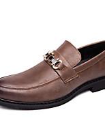Недорогие -Муж. Комфортная обувь Кожа Весна лето / Наступила зима На каждый день Мокасины и Свитер Дышащий Черный / Коричневый
