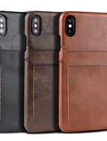 Недорогие -чехол для apple iphone xs max / iphone 8 plus противоударный / держатель карты задняя крышка сплошная мягкая искусственная кожа для iphone 7/7 plus / 8/6/6 plus / xr / x / xs