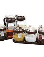 Недорогие -Высокое качество с Стекло Аксессуары для шкафов Для приготовления пищи Посуда Кухня Место хранения 3 pcs