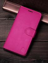 Недорогие -чехол для apple универсальный магнитный / держатель карты задняя крышка сплошная твердая натуральная кожа для iphone 6 / iphone 6 plus / iphone 6s