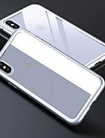Недорогие -чехол для яблока iphone 6 / iphone xs max прозрачная задняя крышка прозрачная / сплошное цветное закаленное стекло для iphone 6 / iphone 6s / iphone 6s plus