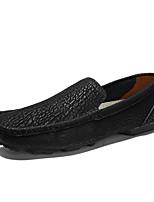 Недорогие -Муж. Официальная обувь Кожа Весна лето / Наступила зима Классика / На каждый день Мокасины и Свитер Дышащий Черный / Желтый / Коричневый