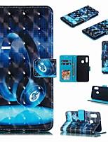 Недорогие -Кейс для Назначение SSamsung Galaxy A6 (2018) / A6+ (2018) / Galaxy A7(2018) Кошелек / Бумажник для карт / Защита от удара Чехол Мультипликация Твердый Кожа PU