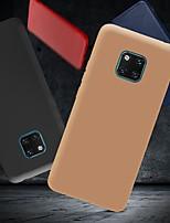 Недорогие -Кейс для Назначение Huawei Huawei P20 / Huawei P20 Pro / Huawei P20 lite Защита от удара / Ультратонкий / Матовое Кейс на заднюю панель Однотонный Мягкий ТПУ