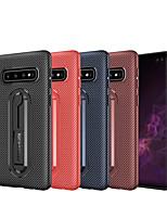 Недорогие -Кейс для Назначение SSamsung Galaxy S9 / S9 Plus / S8 Plus со стендом Кейс на заднюю панель Однотонный Мягкий Углеродное волокно