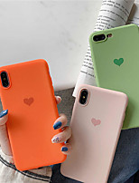 Недорогие -чехол для яблока iphone xr / iphone xs max pattern / матовое задняя крышка сердце мягкое тпу для iphone 6 6 плюс 6s 6s плюс 7 8 7 плюс 8 плюс x xs