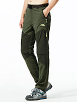 cheap -Men's Hiking Pants Convertible Pants / Zip Off Pants Summer Outdoor Thermal Warm Waterproof Portable Breathable Pants / Trousers Bottoms Black Army Green Khaki Camping / Hiking Running Outdoor L XL