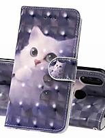 Недорогие -Кейс для Назначение Huawei Huawei Nova 3i / Huawei Honor 10 / Honor 10 Lite Кошелек / Бумажник для карт / Защита от удара Чехол Кот Твердый Кожа PU