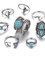 Недорогие -Жен. Цирконий Ring Set европейский Модные кольца Бижутерия Синий Назначение Свадьба 8шт
