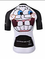 Недорогие -21Grams Новинки Муж. С короткими рукавами Велокофты - Черный / Белый Велоспорт Джерси Верхняя часть Дышащий Влагоотводящие Быстровысыхающий Виды спорта Терилен Горные велосипеды Одежда
