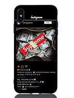 Недорогие -Кейс для Назначение Apple iPhone XS / iPhone XR / iPhone XS Max Защита от удара / С узором Кейс на заднюю панель Слова / выражения Мягкий ТПУ