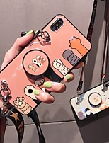 Недорогие -чехол для apple iphone 8 / iphone x шаблон / с подставкой задняя крышка сердце мягкое тпу для iphone 6 / iphone 6 plus / iphone 6s для iphone 6 / iphone 6 plus / iphone 6s 7 8plus xs xr xsmax