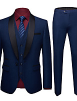 cheap -Tuxedos Tailored Fit Shawl Collar Single Breasted One-button Polyester Solid Colored / British / Fashion