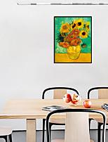 Недорогие -Отпечаток в раме Набор в раме - Цветочные мотивы / ботанический Полистирен Масляные картины Предметы искусства